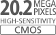 20,2 Megapiksel CMOS