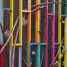 Coloured fence
